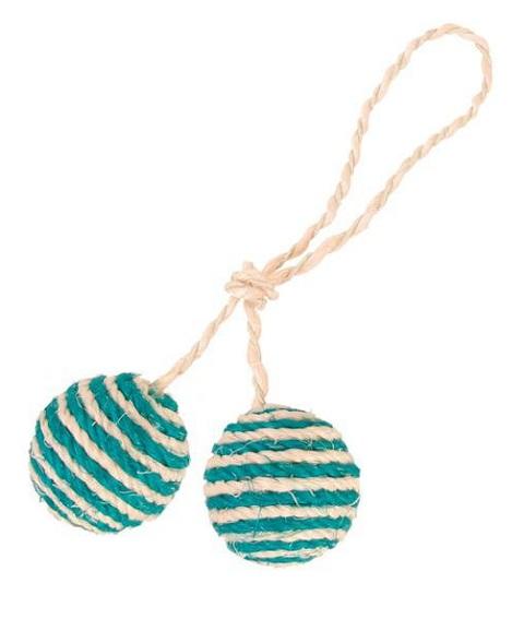 Trixie игрушка для кошек «2 мяча веревочных»