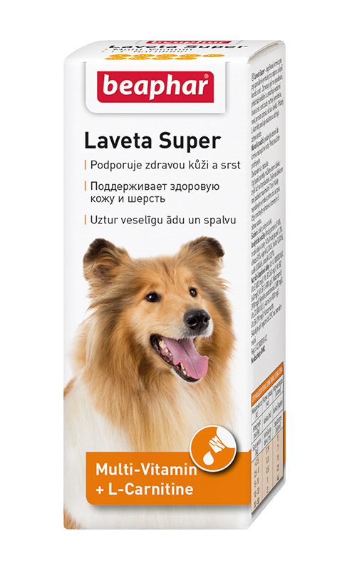 Картинка - Beaphar Laveta Super For Dogs – Беафар витаминный комплекс для собак для кожи и шерсти (50 мл)