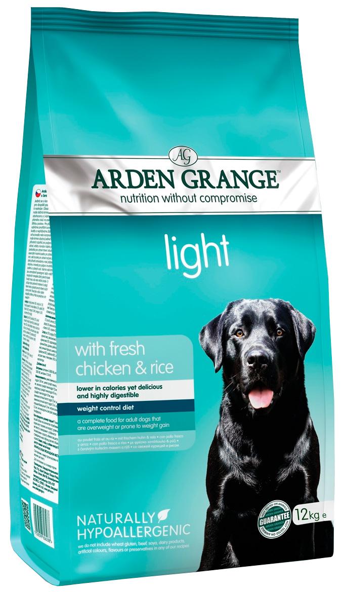 Arden Grange Light диетический для взрослых собак с курицей и рисом (6 + 6 кг).