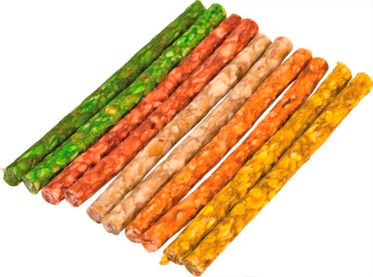 Лакомство Green Qzin для собак всех пород жевательные палочки из сыромятной воловьей кожи 900 гр 100 шт (1 шт)