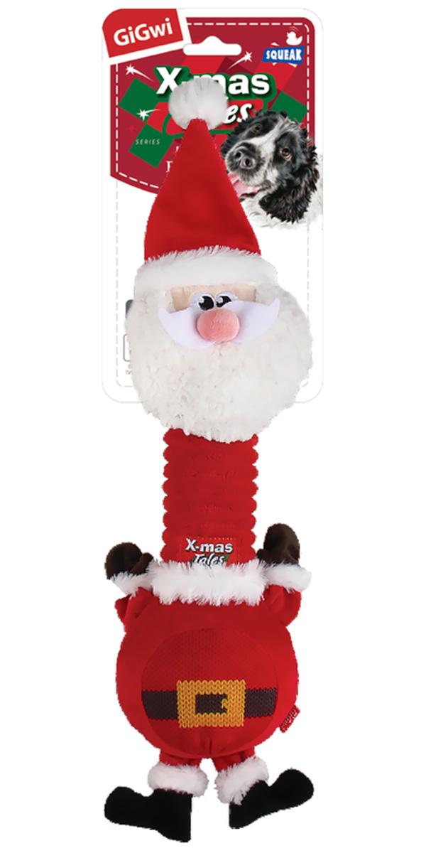 Игрушка для собак GiGwi X-mas Tales Санта с пищалкой 45 см (1 шт)