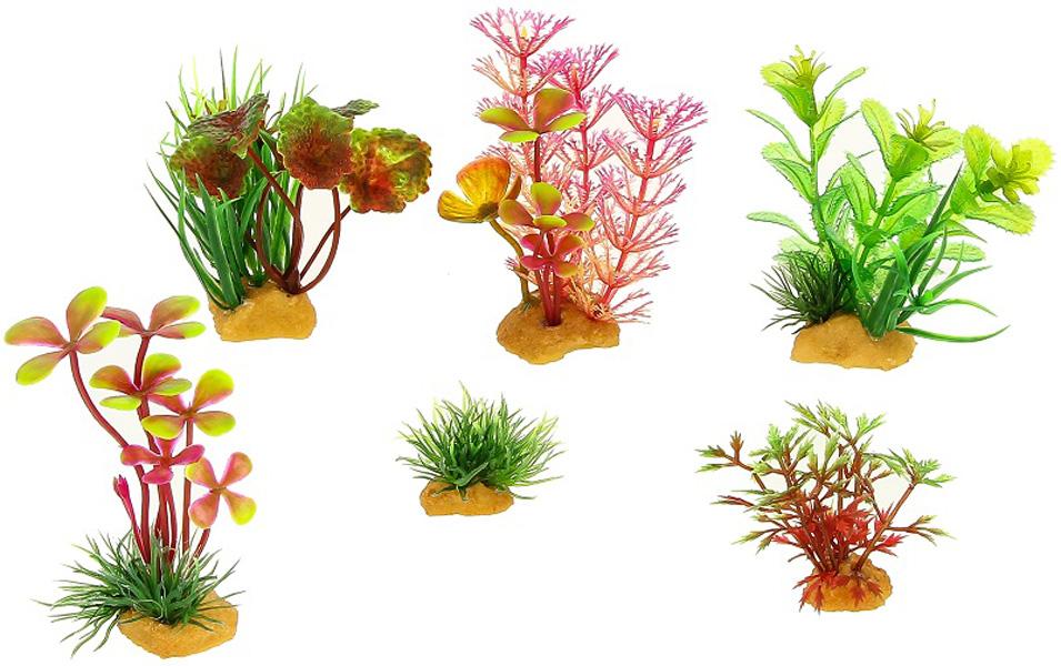 Набор пластиковых растений для аквариума Prime Pr-ys-70401 уп. 6 шт (1 уп) 0 pr на 100