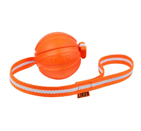 Мяч Лайкер Лайн на ленте для собак 9 см Collar (1 шт)