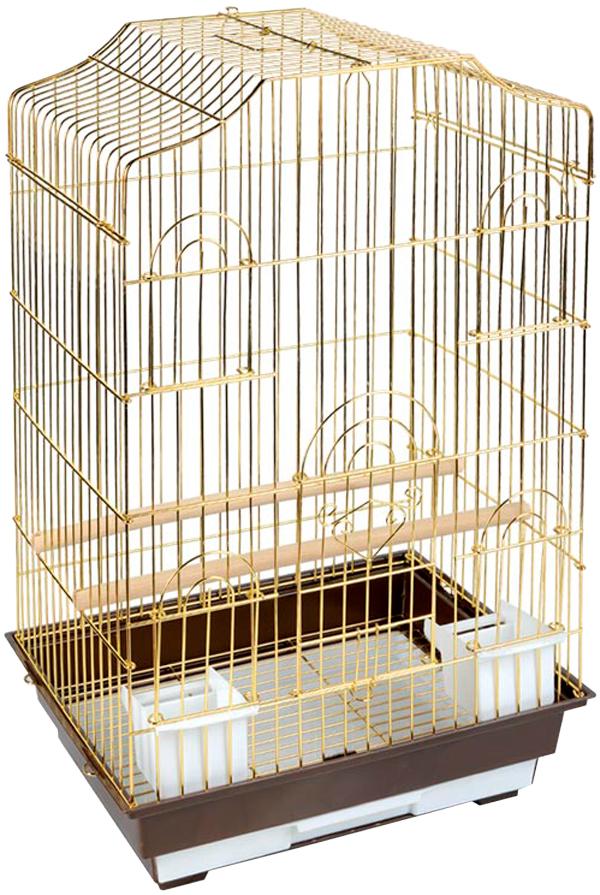 Клетка для птиц Triol 6112g золото 46,5 х 36 х 71 см (1 шт) фото