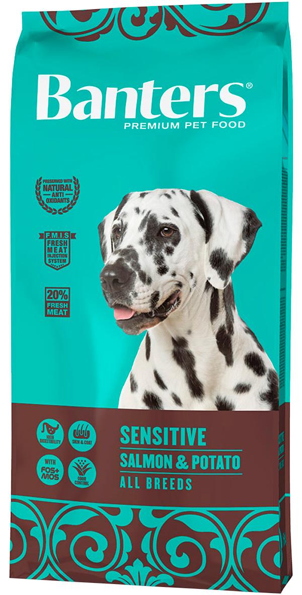 Banters Adult All Breeds Sensitive монобелковый для взрослых собак всех пород при аллергии с лососем и картофелем (15 кг) фото