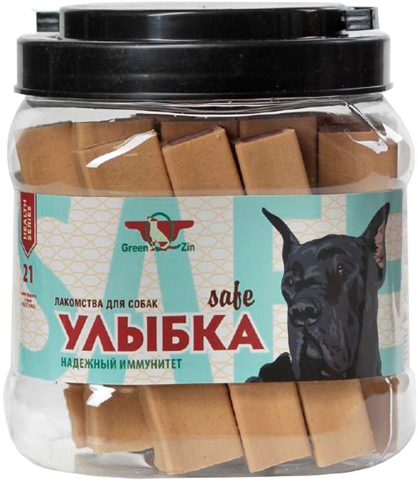 Лакомство Green Qzin Улыбка Safe №21 для собак всех пород палочки мягкие жевательные для зубов и иммунитета 1130 гр 18 шт (1 шт)