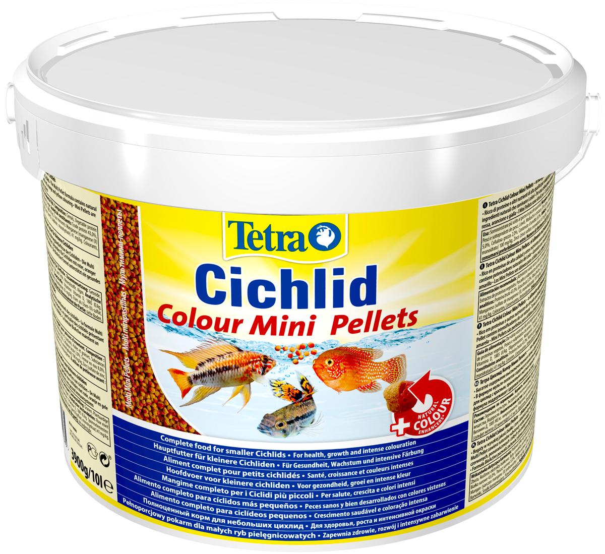 Tetra Cichlid Colour Mini Pellets корм шарики