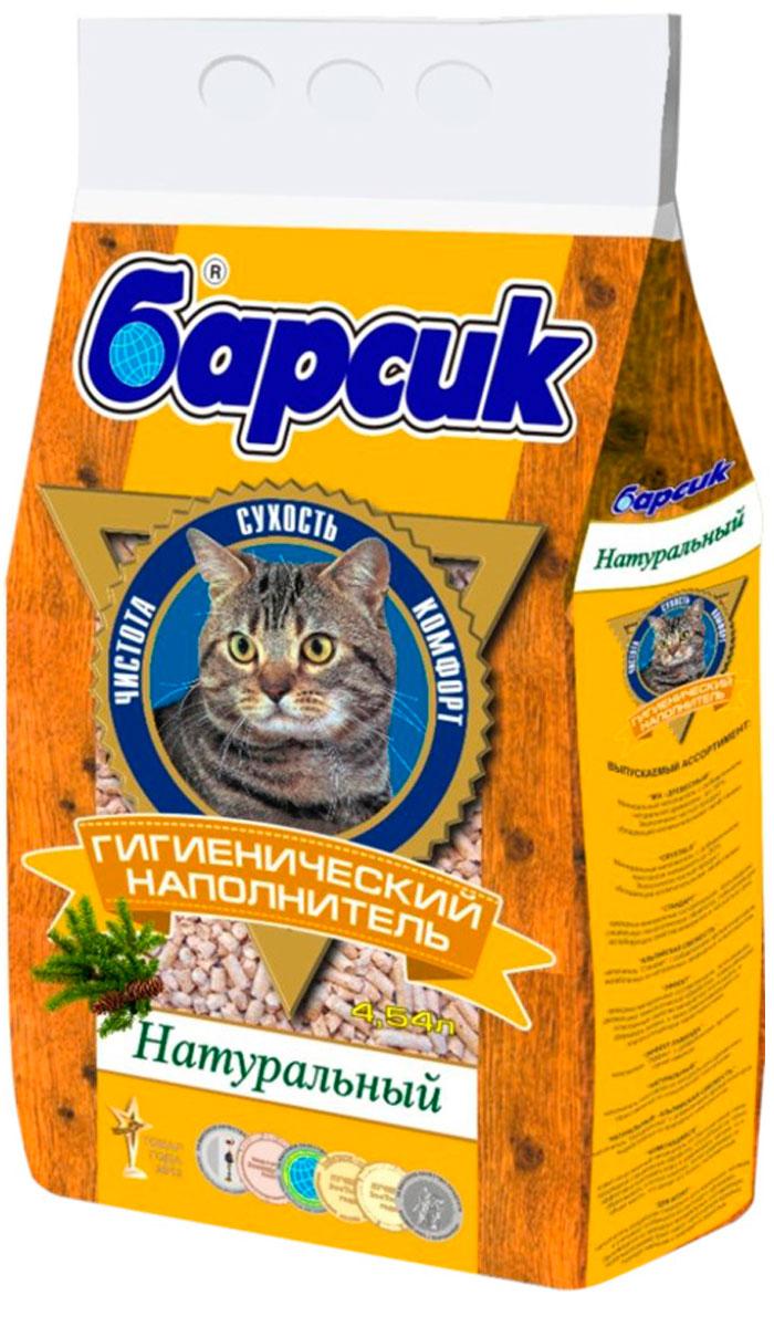 Фото - барсик натуральный – наполнитель древесный для туалета кошек (4,54 л) кот барсик