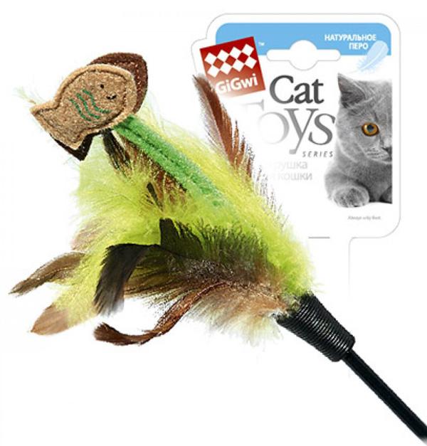Игрушка для кошек GiGwi Дразнилка с рыбками