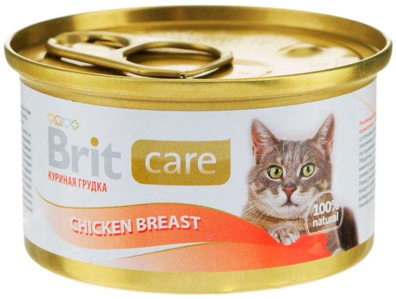 Brit Care Cat Chicken Breast для взрослых кошек с куриной грудкой 80 гр (80 х 12 шт)