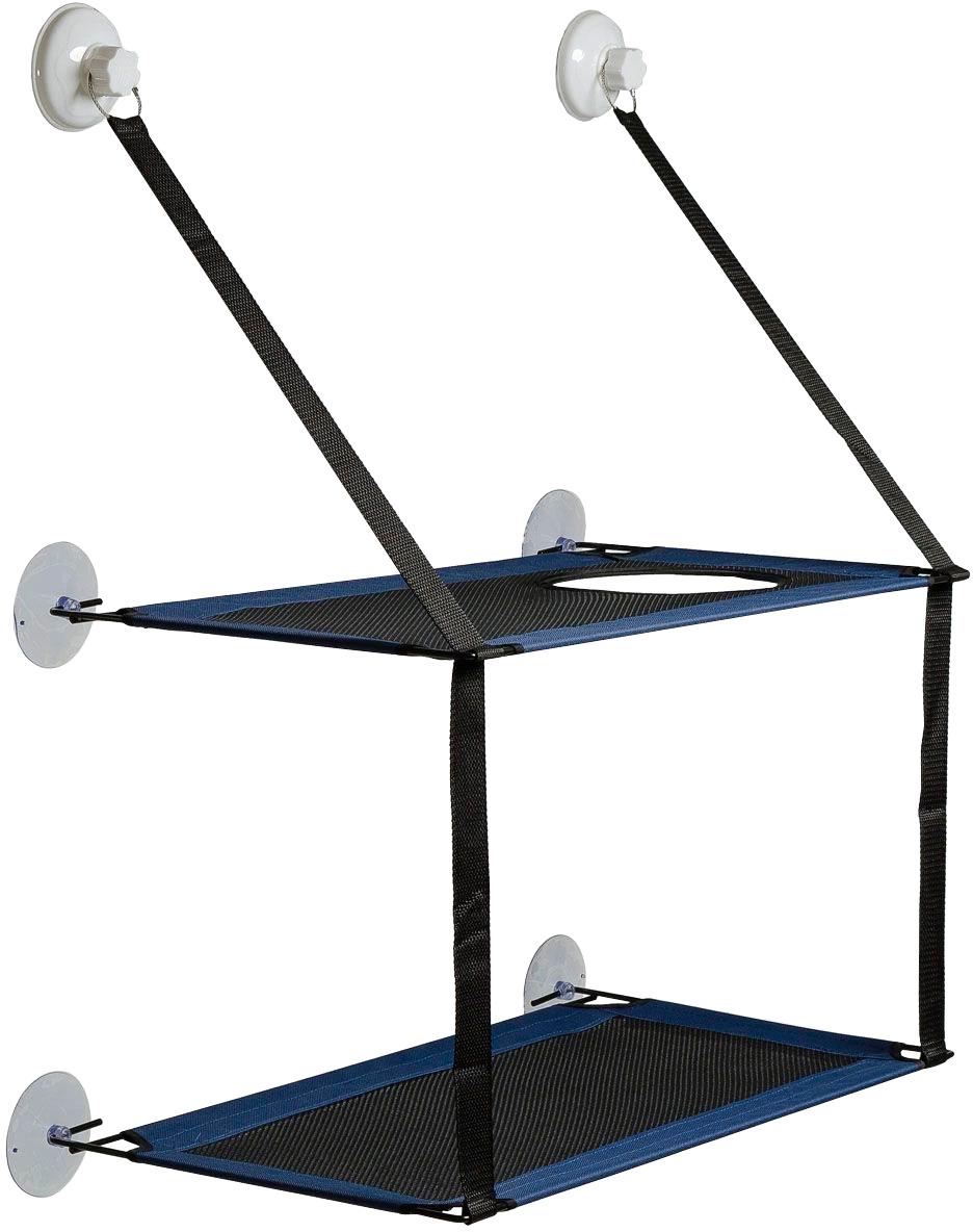 Гамак на окно для кошек двухъярусный V.I.Pet синий 59 х 35 х 71 см (1 шт)