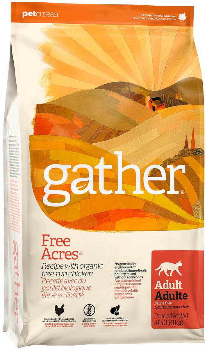 Gather Cat Free Acres Chicken монобелковый для взрослых кошек всех пород с курицей (3,63 кг)
