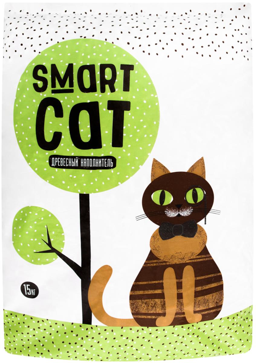 Smart Cat наполнитель древесный для туалета кошек (15 + 15 кг)