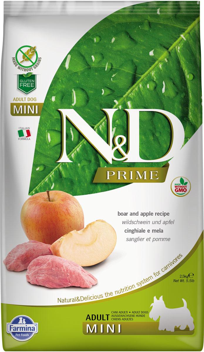 Farmina Dog N&d Prime Adult Mini Boar & Apple беззерновой для взрослых собак маленьких пород с кабаном и яблоком (2,5 кг) фото