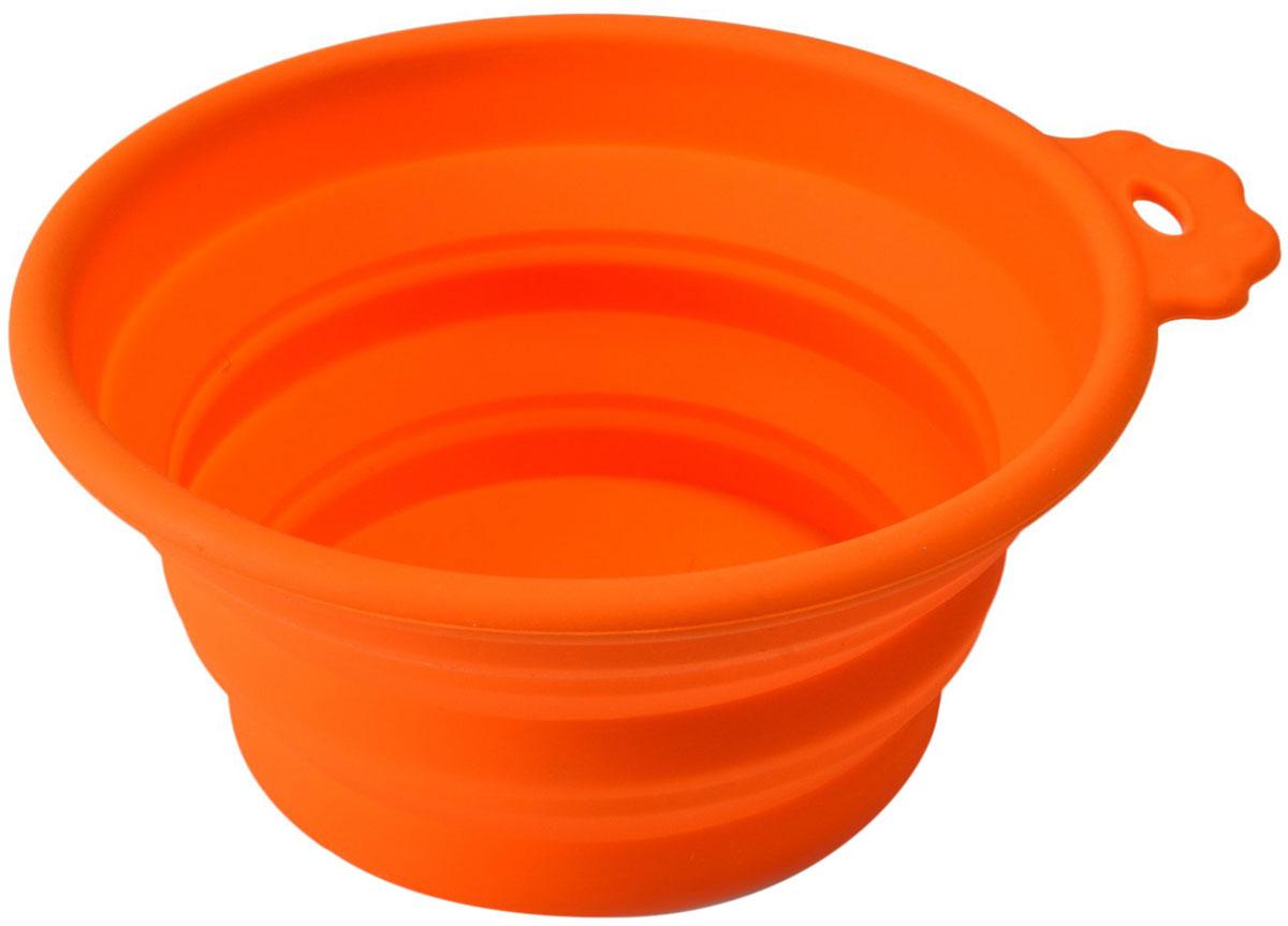 Миска силиконовая складная Superdesign оранжевая малая 0,38 л (1 шт)