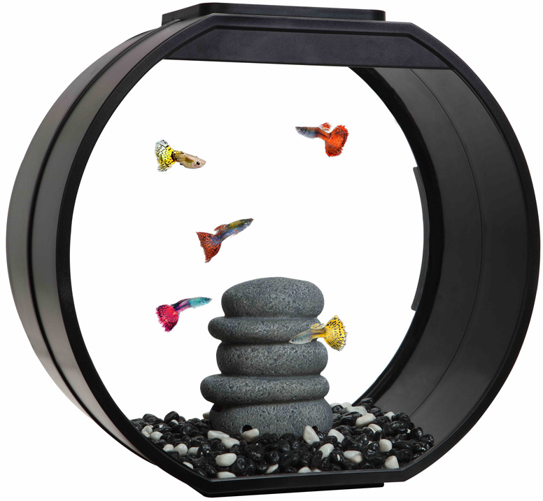 Аквариум Aa Aquarium Deco O Upg дисковидный 20 литров черный (1 шт) фото