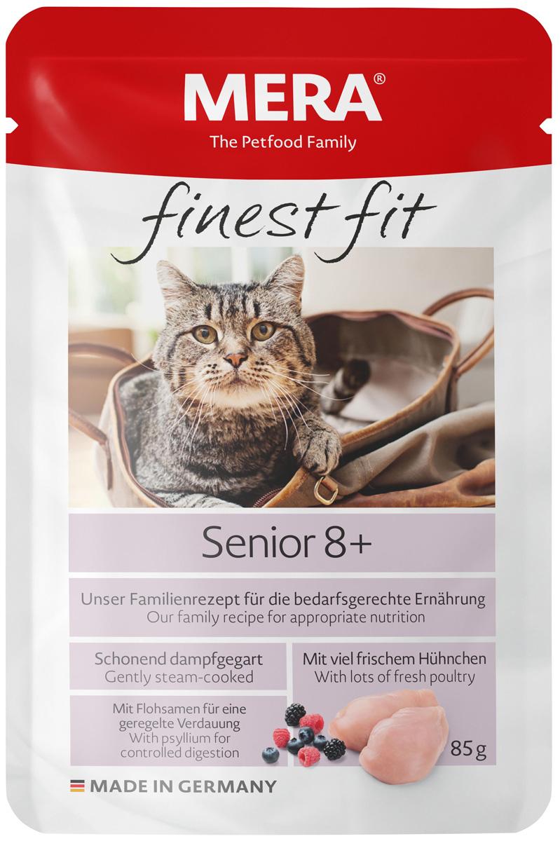 Mera Finest Fit Cat Senior 8+ для пожилых кошек старше 8 лет с птицей 85 гр (85 гр х 12 шт)