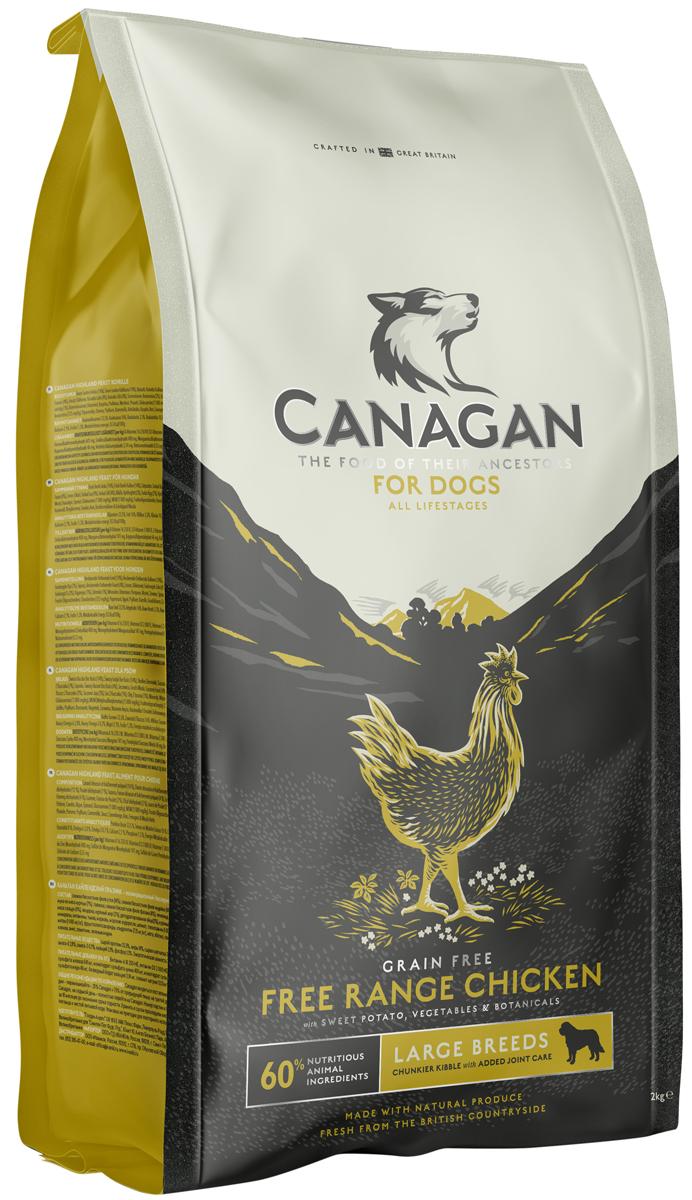 Canagan Grain Free Free-run Chicken Large Breed беззерновой для собак и щенков крупных пород с цыпленком (12 кг) canagan grain free free run chicken беззерновой для кошек и котят с цыпленком 1 5 кг