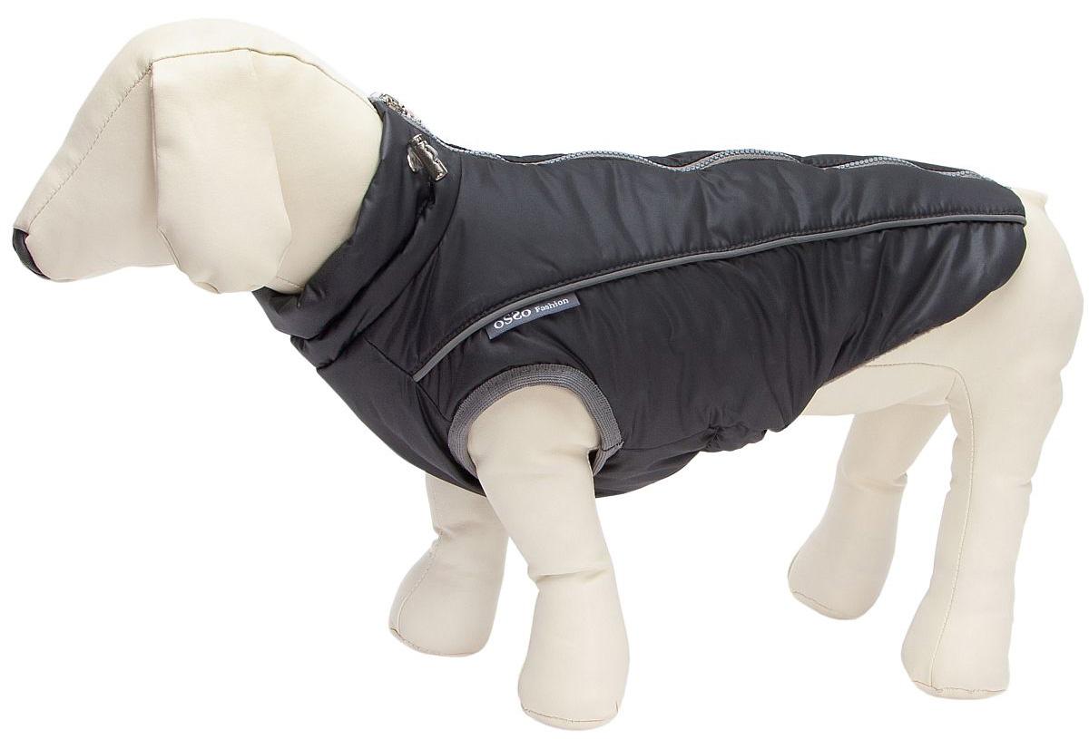 Osso Fashion жилет зимний для собак маленьких пород Аляска темно серый (28)