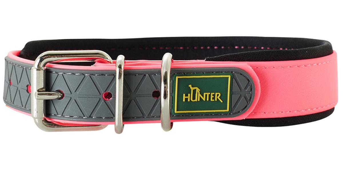 Ошейник для собак Hunter Convenience Comfort 40 биотан мягкая горловина розовый неон 20 мм 27 – 35 см (1 шт).