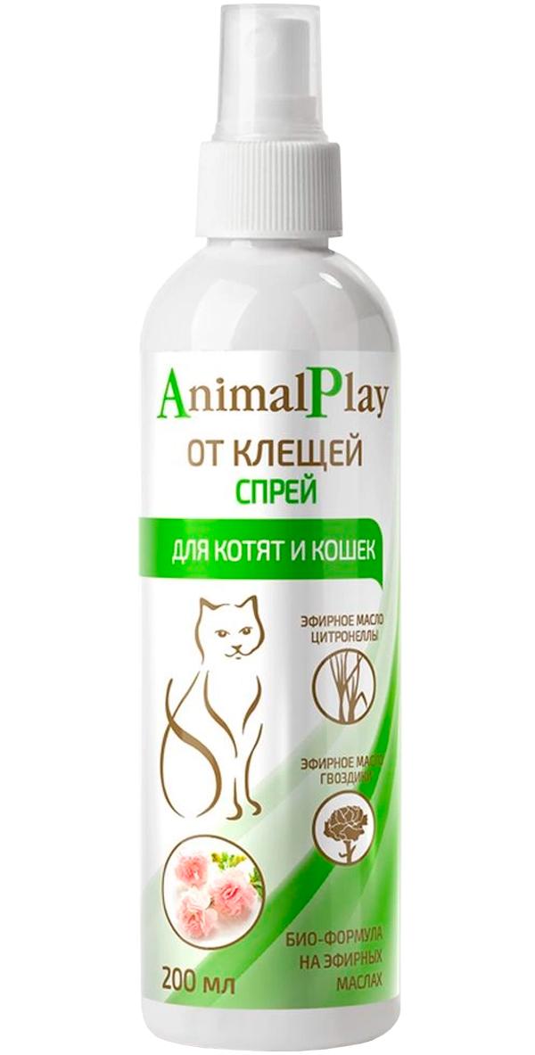 Animal Play спрей репеллентный для кошек и котят против клещей, блох, вшей власоедов 200 мл (1 шт)