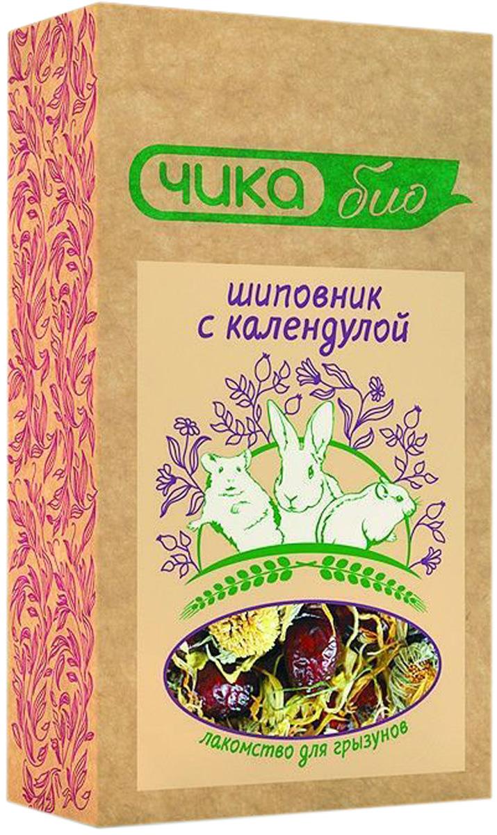 чика био лакомство для грызунов с шиповником и календулой (110 гр).