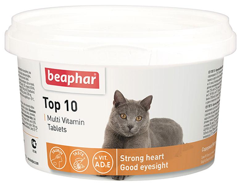 Beaphar Top 10 Multi Vitamin мультивитаминная добавка для кошек с биотином и таурином уп. 180 таблеток (1 уп) beaphar top 10 multi vitamin мультивитаминная добавка для кошек с биотином и таурином уп 180 таблеток 1 уп