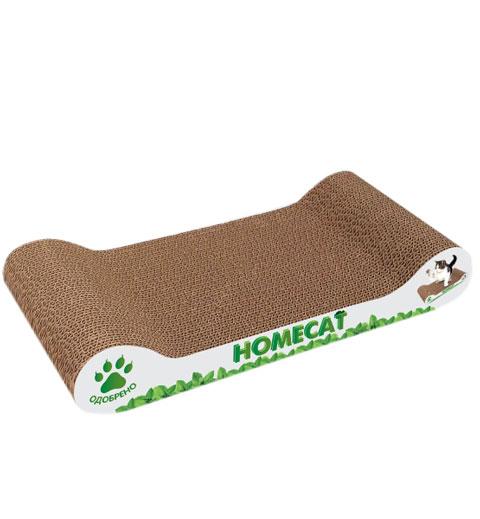 когтеточка bradex мышелов 25 х 25 х 6 5 см зеленая Homecat когтеточка картонная Мятная волна 45 х 25 х 10 см (1 шт)