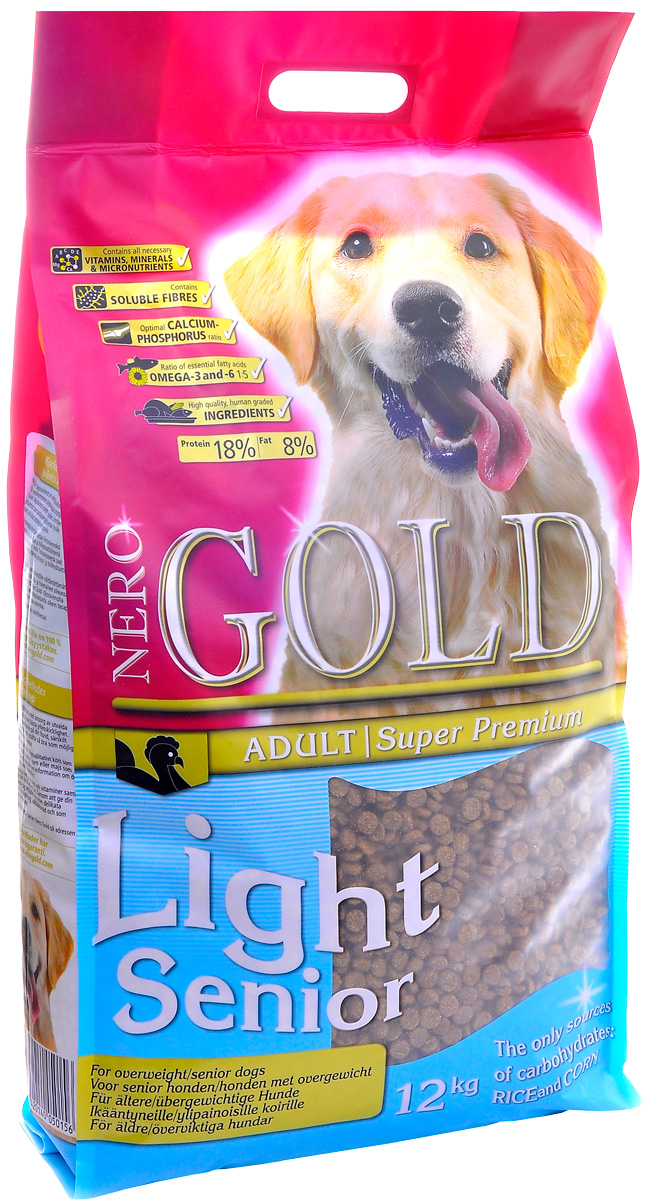 Nero Gold Dog Senior/light для пожилых собак всех пород с индейкой и рисом (12 кг)
