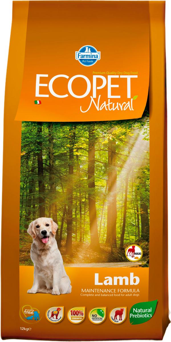 Ecopet Natural Adult Maxi Lamb для взрослых собак крупных пород с чувствительным пищеварением с ягненком (12 кг)