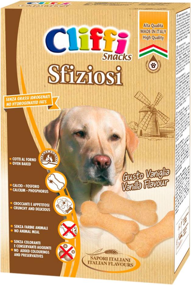 Лакомство Cliffi Sfiziosi для взрослых собак всех пород бисквиты с кальцием 400 гр (1 шт)