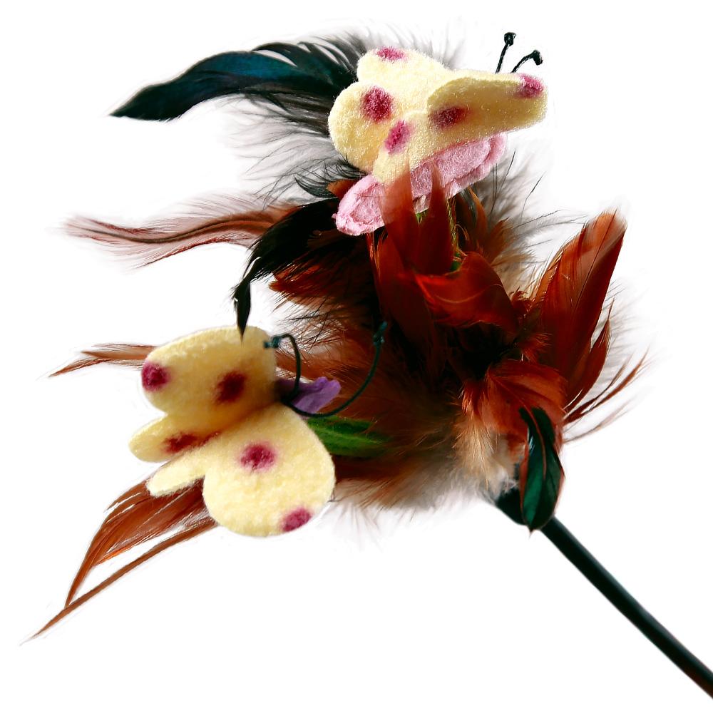 Игрушка для кошек GiGwi Дразнилка с перьями