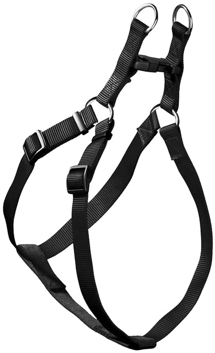 Шлейка для собак Hunter Smart Ecco Quick L нейлон черная 25 мм 52 – 74/55 – 79 см (1 шт)