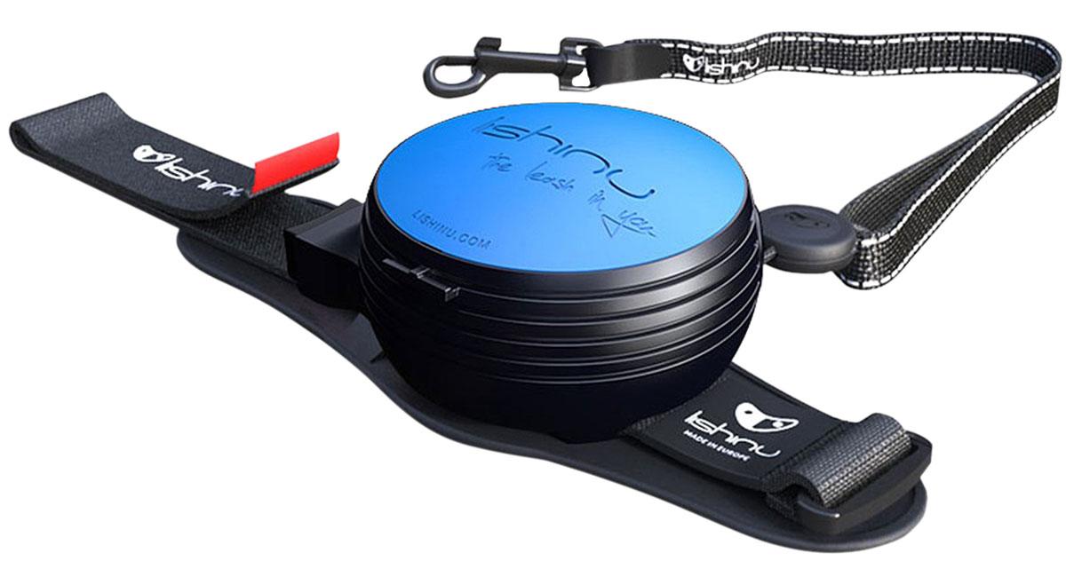 Lishinu Original 2 тросовый поводок рулетка для животных 3 м размер Xs голубой (1 шт)