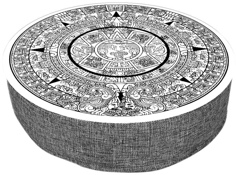Лежанка пуф для животных PerseiLine Дизайн Майя 56 х 16 см (1 шт)
