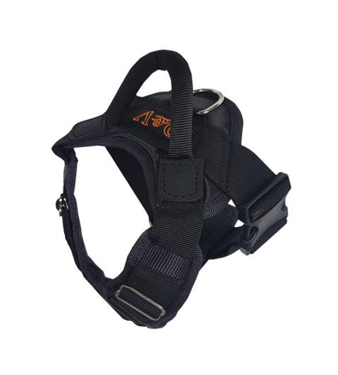 Шлейка нейлоновая стандартная с пластмассовым фастексом Комфорт H-014 M черная (1 шт)