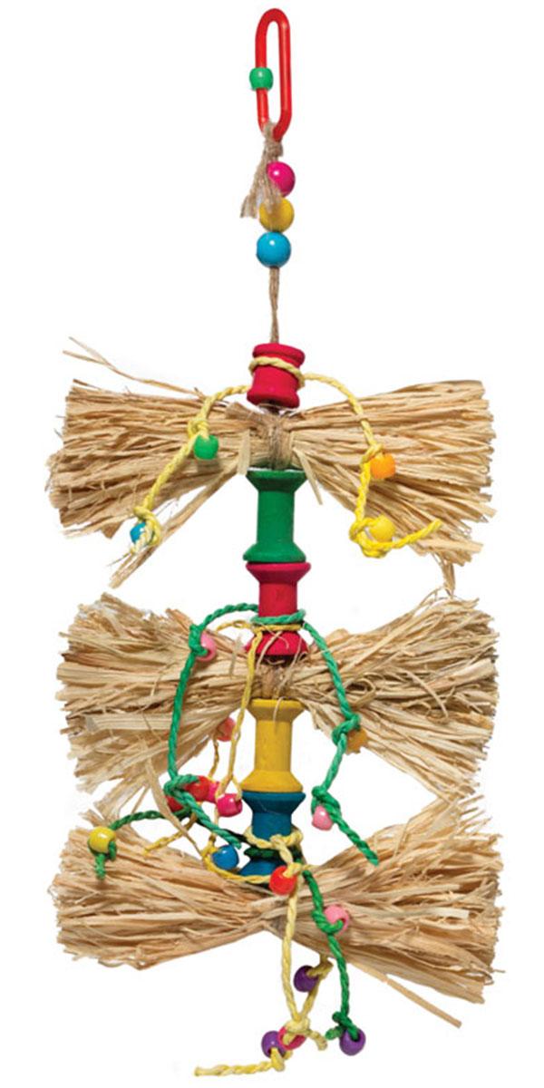 Игрушка для птиц Triol Бантики (1 шт) игрушка для птиц triol br43 ромашки 19 см