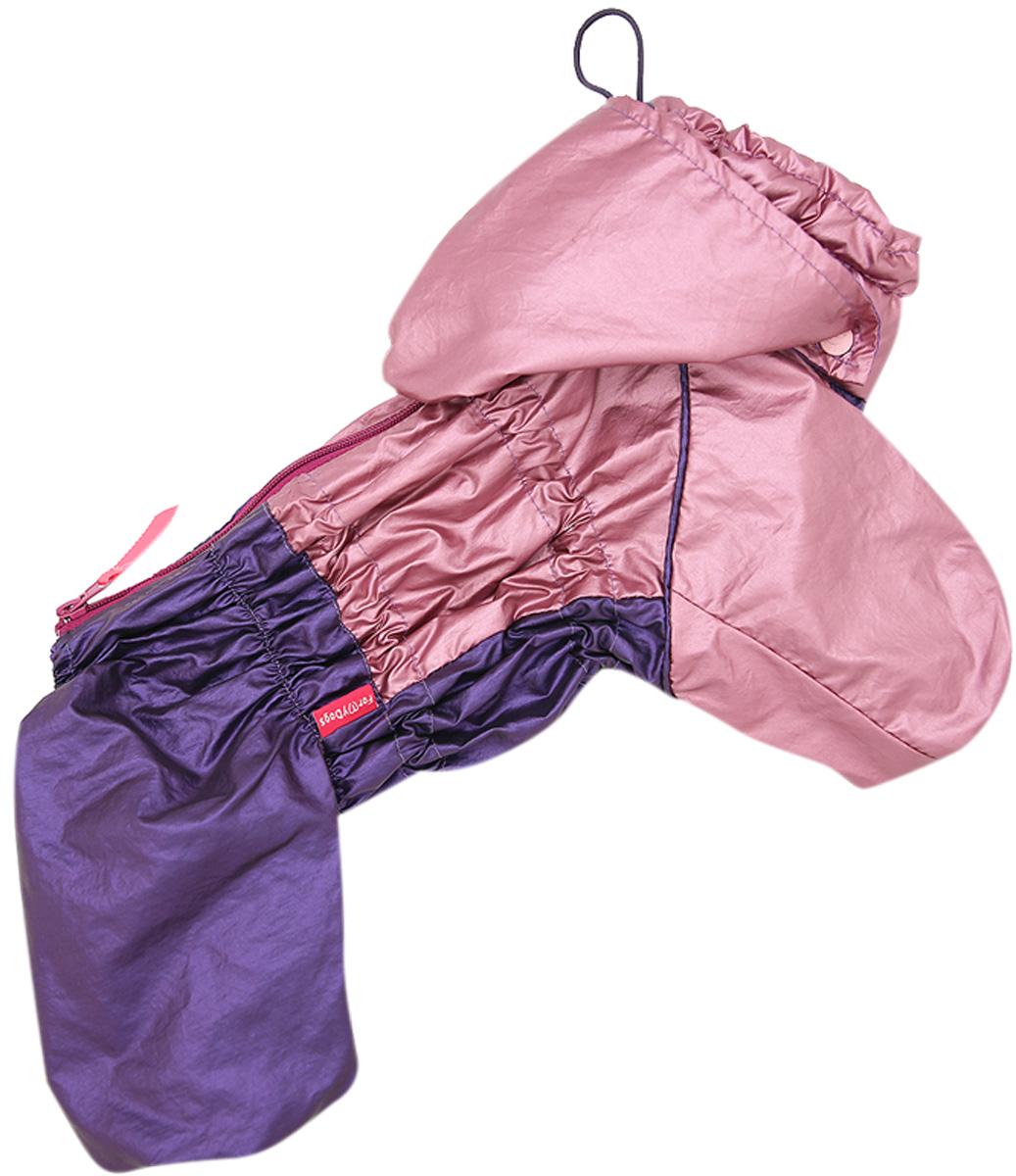 For My Dogs дождевик для собак розовый/фиолет металлик для девочек 430ss-2020 F (16)