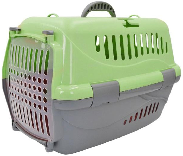 Переноска для животных Homepet зеленая 48 х 32 х 32 см (1 шт).