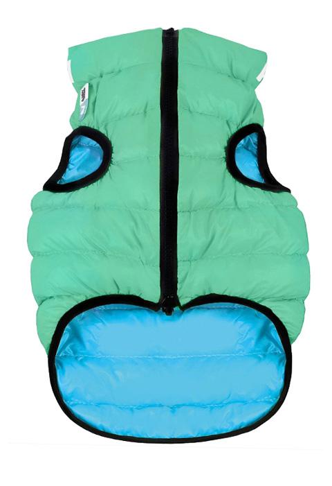 Куртка для собак Collar AiryVest Lumi двусторонняя светящаяся салатово-голубая (xs25) куртка для собак collar airyvest двусторонняя розово фиолетовая xs25