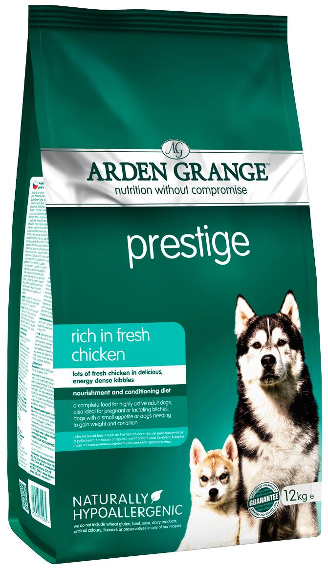 Arden Grange Prestige для взрослых собак с курицей и рисом  (12 кг).