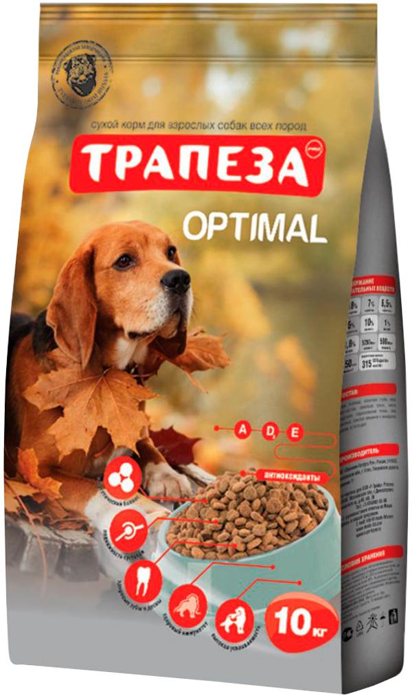 Картинка - трапеза оптималь для взрослых собак всех пород живущих дома (10 кг)