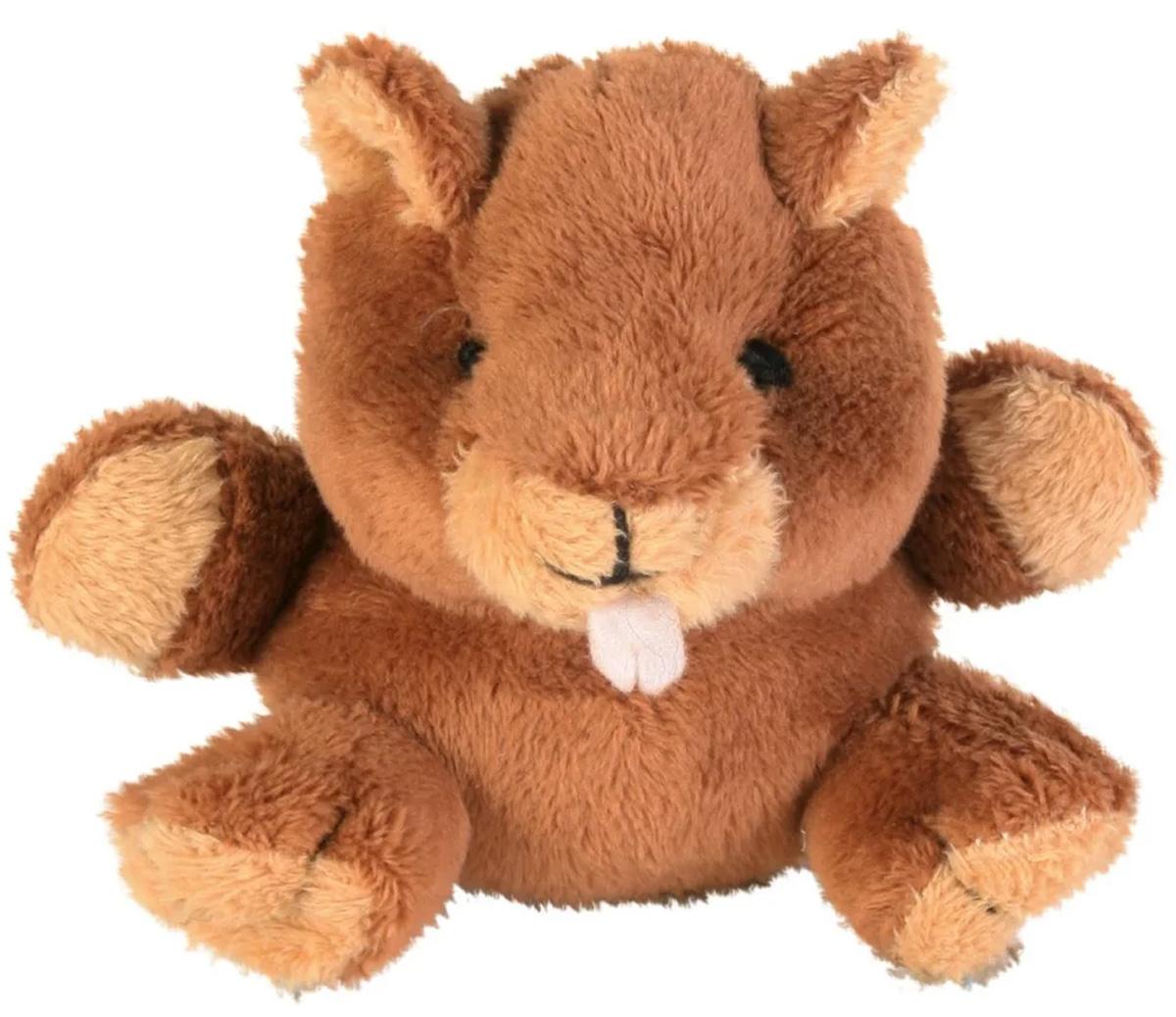 Trixie игрушка для собак «Животное», плюш, с пищалкой (10-12 см)