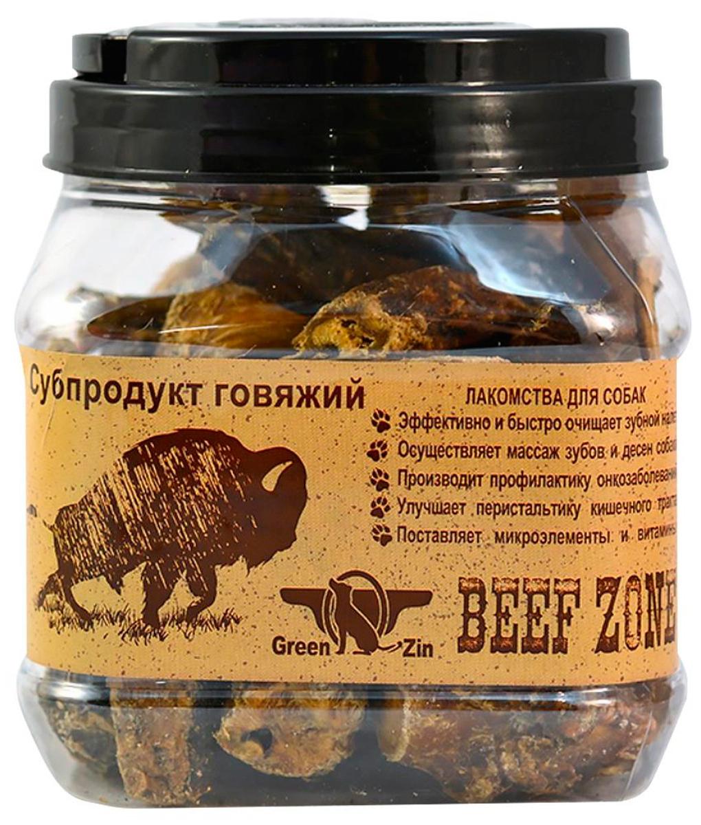 Лакомство Green Qzin Beef Zone для собак всех пород пенис бычий сушеный малый 600 гр (1 шт)