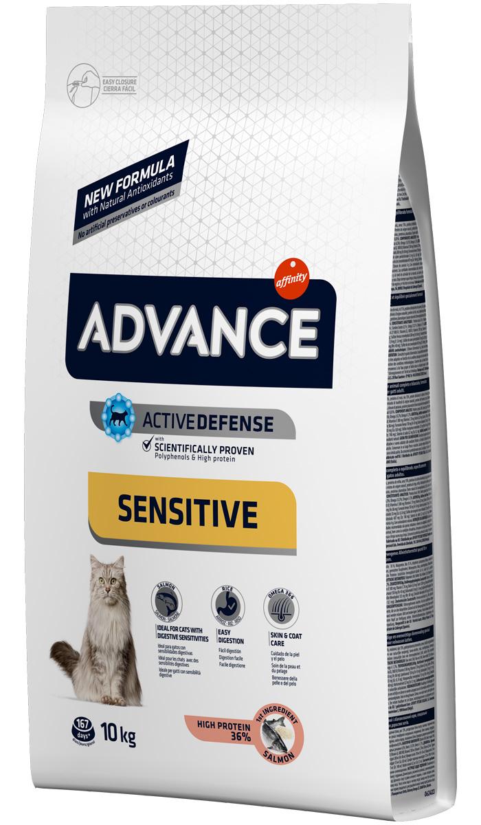 Купить со скидкой Advance Adult Sensitive Salmon & Rice для взрослых кошек при аллергии с лососем и рисом (3 + 3 кг)