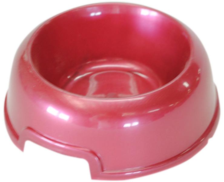 Миска для собак и кошек Homepet красный перламутр 02 л (1 шт).