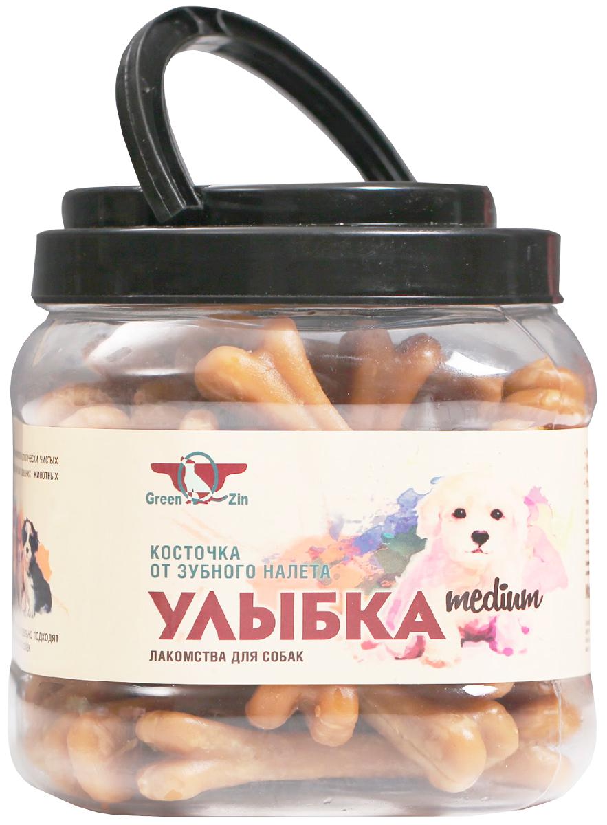 Лакомство Green Qzin Улыбка Medium для собак средних пород косточки жевательные сушеные от зубного налета 750 гр (1 шт)