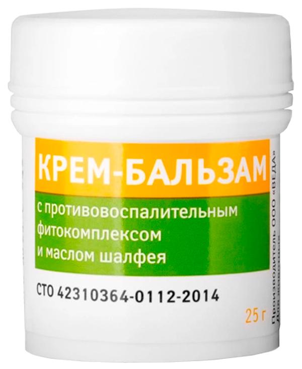 Veda крем-бальзам для собак и кошек с противовоспалительным фитокомплексом и маслом шалфея (25 гр).