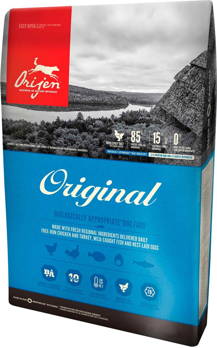 Orijen Dog Original 85/15 для собак и щенков всех пород (2 кг).