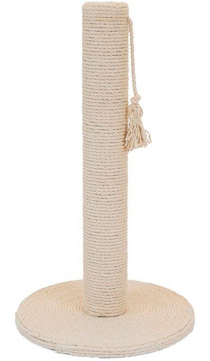 Когтеточка столбик Дарэлл Регата круглая средняя основание беленый джут 37 х 65 см (1 шт) когтеточка дарэлл джут 95 круглая с 2 полками серая 56 х 36 х 52 см 1 шт